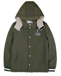 W Concept - Hooded Coach Jacket Khaki - Lyst