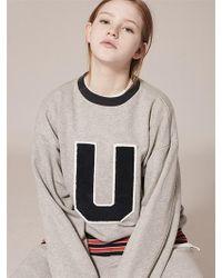 W Concept - U Patch Sweatshirts Lt136 - Lyst