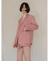 among - A Linen Jk - Pink - Lyst