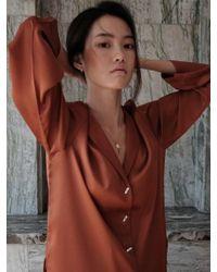 W Concept - Maison Shirt Bronze - Lyst