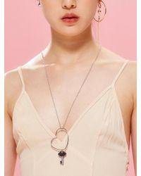 VIOLLINA - Heart Key Necklace - Lyst