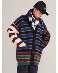 Heich Blade - [unisex]block Stripe Cardigan_blue - Lyst