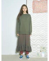 Baby Centaur - Baby Shirring Skirt Layered Dress Khaki - Lyst