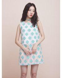 bpb - Dot Organza Dress - Lyst