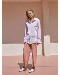 W Concept - Side Tuck Slacks Pink - Lyst