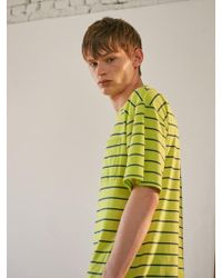 A.GLOWW - Pocket Stripe Short Sleeve Neon Green - Lyst