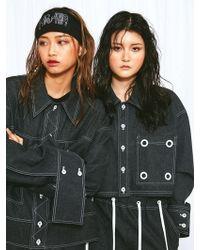 Honey Jarret - Eyelet Denim Shirts Black - Lyst