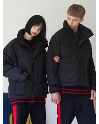 TARGETTO - [unisex] Pocket Puffy Jacket Black - Lyst