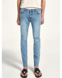 LIUNICK - Bright Washed Jean - Lyst