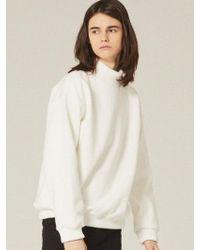 W Concept - [unisex] Half Neck Sweatshirts Lt184 - Lyst