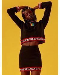 NANA CREW - Nana Rainbow Sweatshirt Black - Lyst
