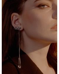 VIOLLINA - Another V Crystal Long Drop Single Earring - Lyst