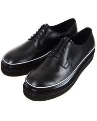 RELIZM PRODUCT | Oil Washing Black Leather Piping Derbys | Lyst