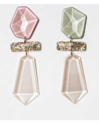 Blank - Pastel Drop Earring - Lyst