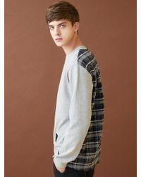 MILLOGREM - Half Check Sweatshirts - Grey - Lyst