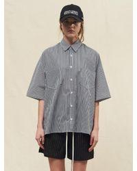 SLEAZY CORNER - [unisex] Half Shirt Stripe White - Lyst