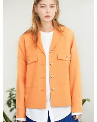 Clue de Clare - Pocket Field Jacket Orange - Lyst