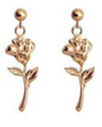FLOWOOM - Rose Earrings - Lyst