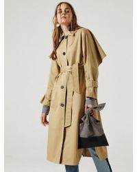 1159 STUDIOS - Mh3 Cape Trench Coat Be - Lyst