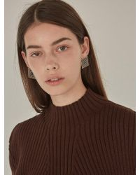 Low Classic - Square Earring Gold - Lyst
