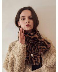 W Concept - Marmande Fake Fur Muffler - Lyst
