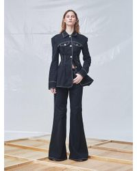 Fleamadonna - Oversized Flared Trousers - Lyst