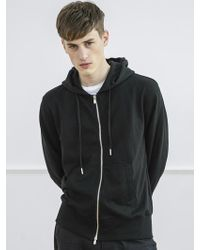 AECA WHITE - Men Zip Up Hoodie-black - Lyst