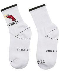 W Concept - [unisex] Sd Start Socks(white) - Lyst