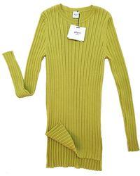 Aheit - Rib Point Slim Knit Pullover - Lyst