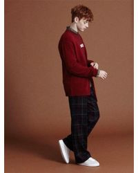 NOHANT - [unisex]unbalanced Knit Cardigan Red - Lyst
