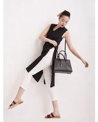 Aheit - Asymmetric Side Open Tunic Dress Black - Lyst