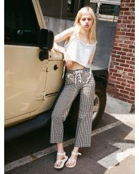 OUOR - Close Corset Wide Pants - Lyst