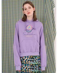 ANOTHER A | Suburbia Flower Hoodie White Purple Yellow | Lyst