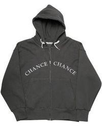 CHANCECHANCE - [unisex]logo Charcoal Hood Zipup Napping - Lyst