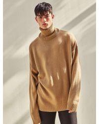 LIUNICK - Paul Oversize Turtleneck Knitwear Beige - Lyst