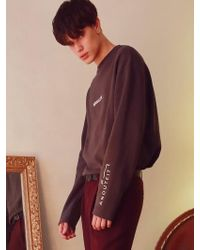 ANOUTFIT - [umisex] A-printing Longsleeve Charcoal - Lyst