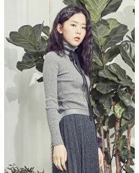 Blank - Soft Wool Turtleneck Grey - Lyst
