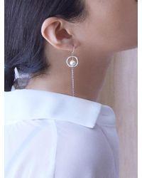 Matias - Silver Line Drop Earring - Lyst