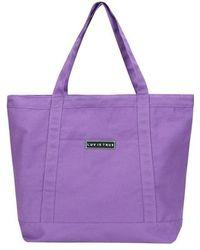 W Concept - [unisex] Bg Logo Tote Bag Purple - Lyst