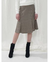 a.t.corner - Brown Hound Tooth Skirt Atsk7d139w2 - Lyst