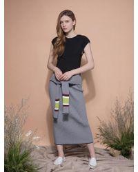 MOIMOII - Sleeve Belted Knit Skirt - Lyst