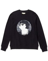 Beyond Closet - Coco Dog Patch Sweat Shirt Black - Lyst