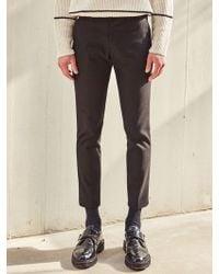 LIUNICK - Feel Good Wool Span Slacks Black - Lyst