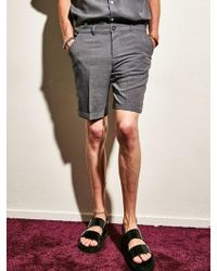 YAN13 - Cooling Half Trousers Charcoal - Lyst