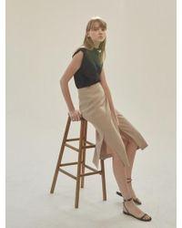 NILBY P - Linen Wrap Skirt Beige - Lyst