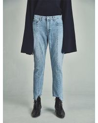 13Month - [unisex] Vg Damage Cutting Jeans Blue - Lyst