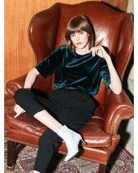 COLLABOTORY - Bacmb2001m Velvet Short Sleeve T-shirt_green - Lyst