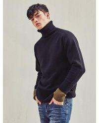 LIUNICK - Wool Turtleneck Pullover Sweater Black - Lyst