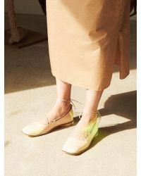 Wite - E01 Nude Ballet Flat - Lyst