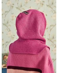 VVV - [unisex] Pink Knit Mini Hoodie - Lyst